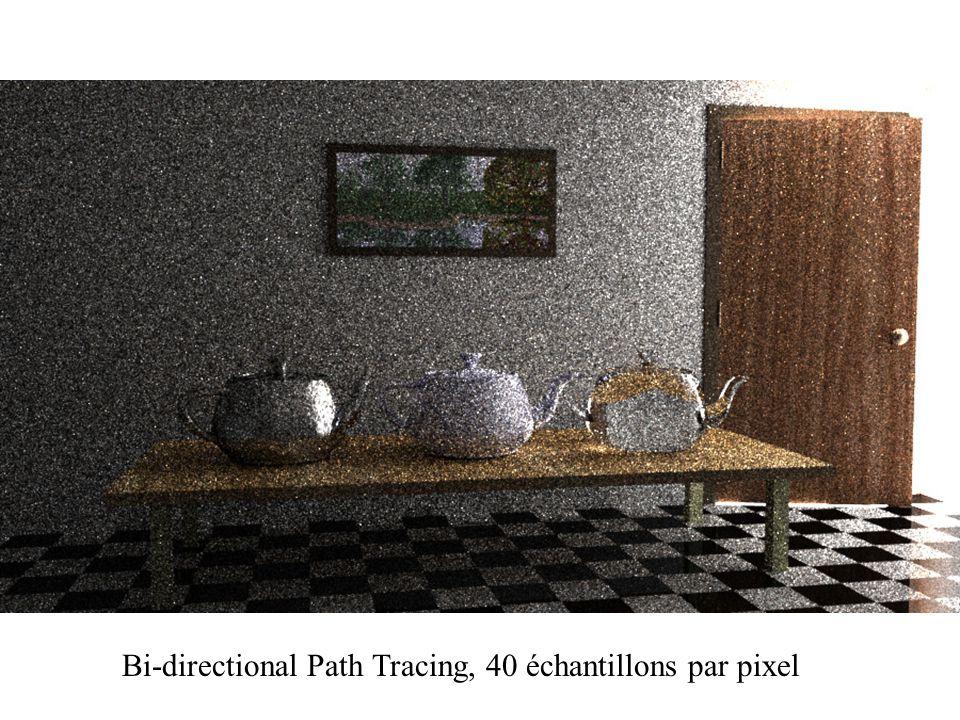 Bi-directional Path Tracing, 40 échantillons par pixel
