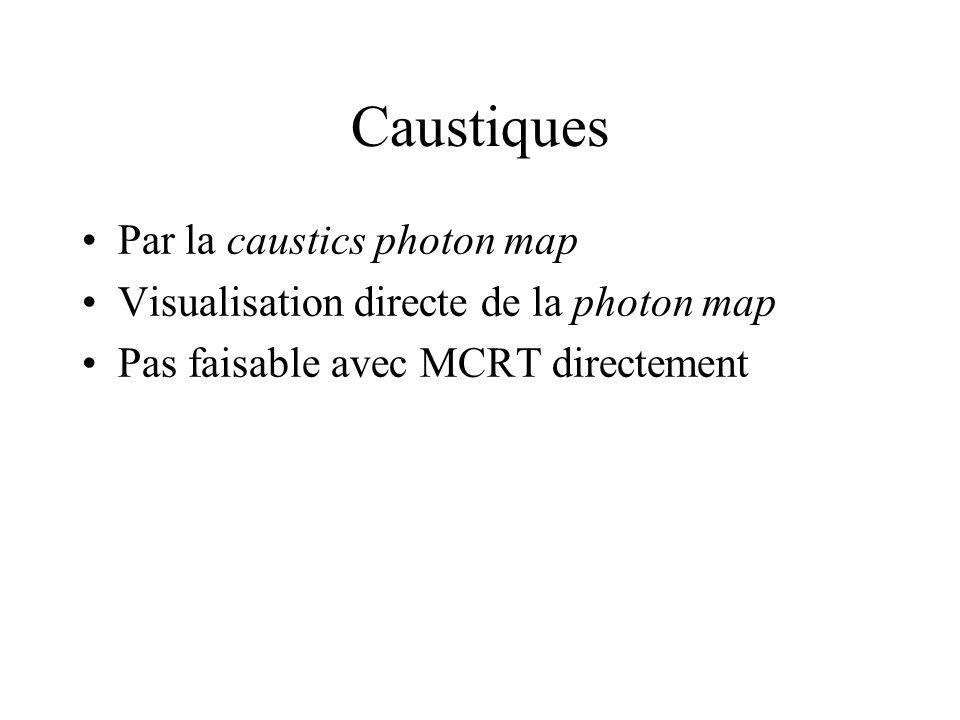 Caustiques Par la caustics photon map