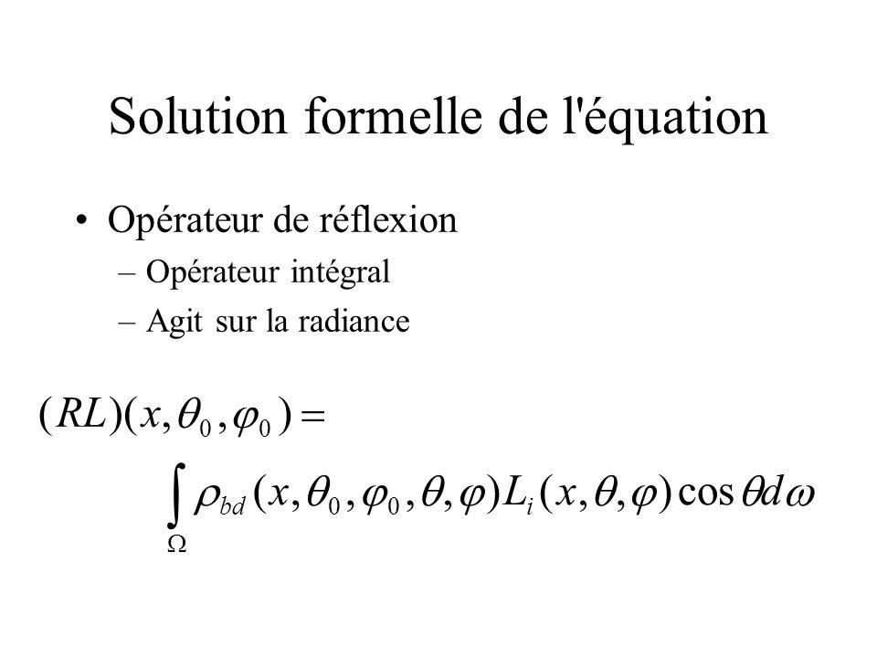 Solution formelle de l équation