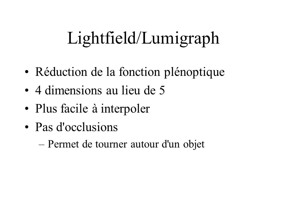 Lightfield/Lumigraph