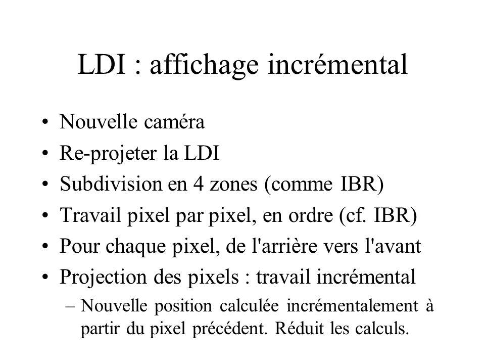 LDI : affichage incrémental