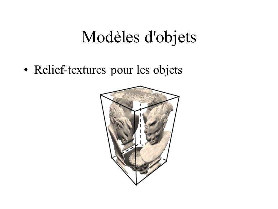 Modèles d objets Relief-textures pour les objets