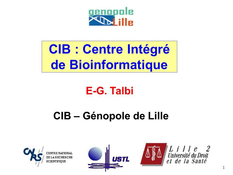 CIB : Centre Intégré de Bioinformatique