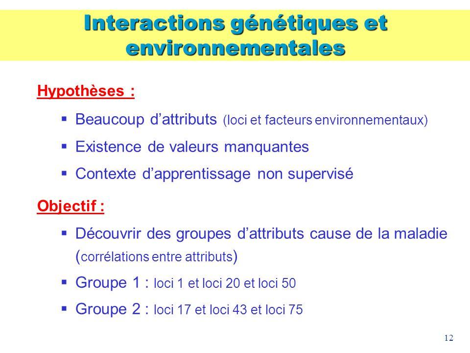 Interactions génétiques et environnementales