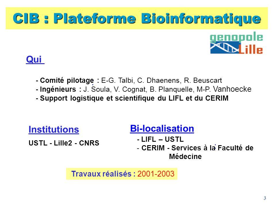CIB : Plateforme Bioinformatique