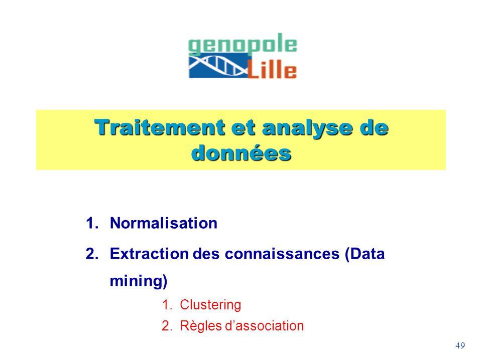Traitement et analyse de données