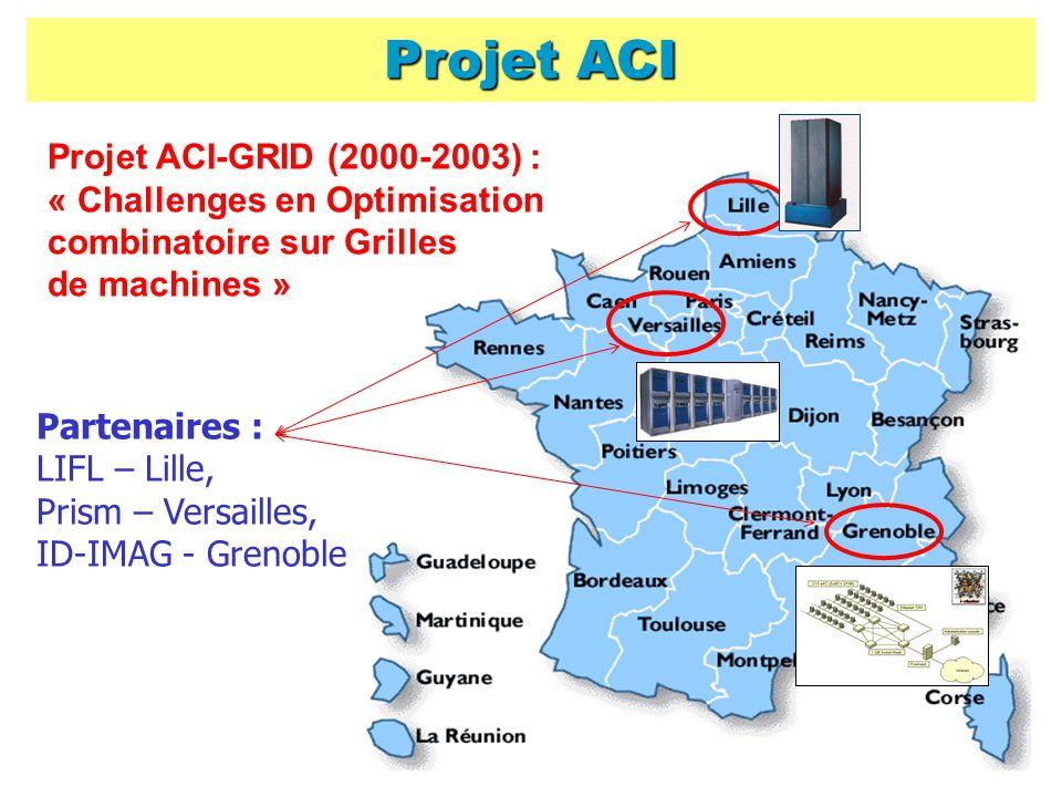 Projet ACI Projet ACI-GRID (2000-2003) : « Challenges en Optimisation