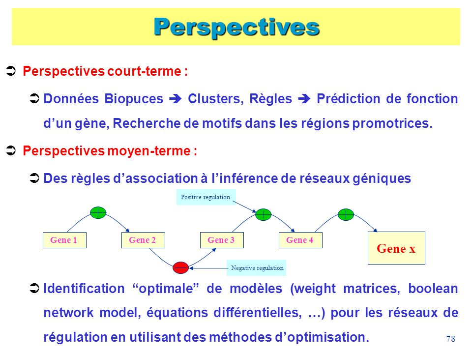 Perspectives Perspectives court-terme :