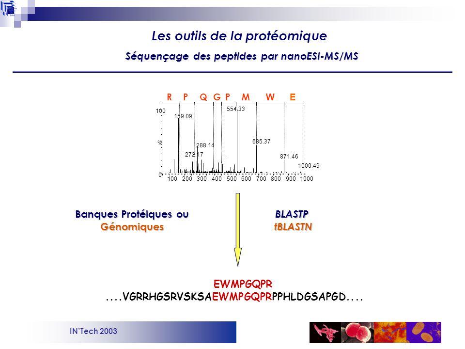 Séquençage des peptides par nanoESI-MS/MS