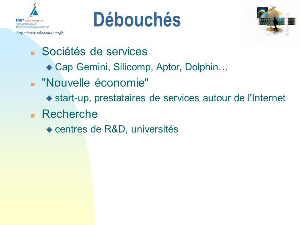 Débouchés Sociétés de services Nouvelle économie Recherche