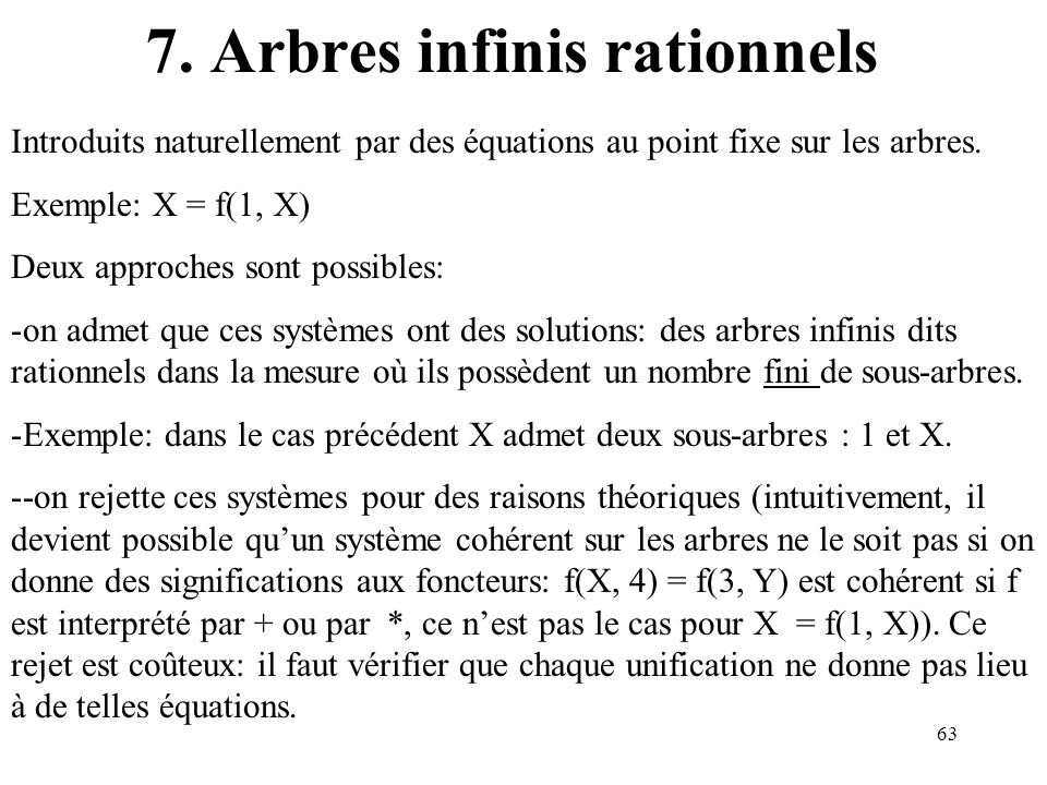 7. Arbres infinis rationnels