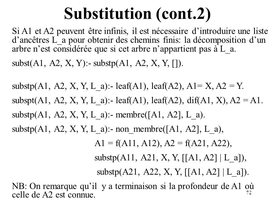 Substitution (cont.2)