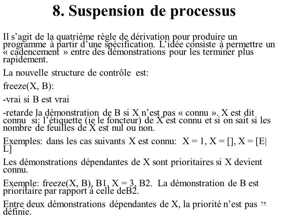 8. Suspension de processus