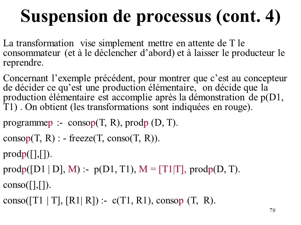 Suspension de processus (cont. 4)