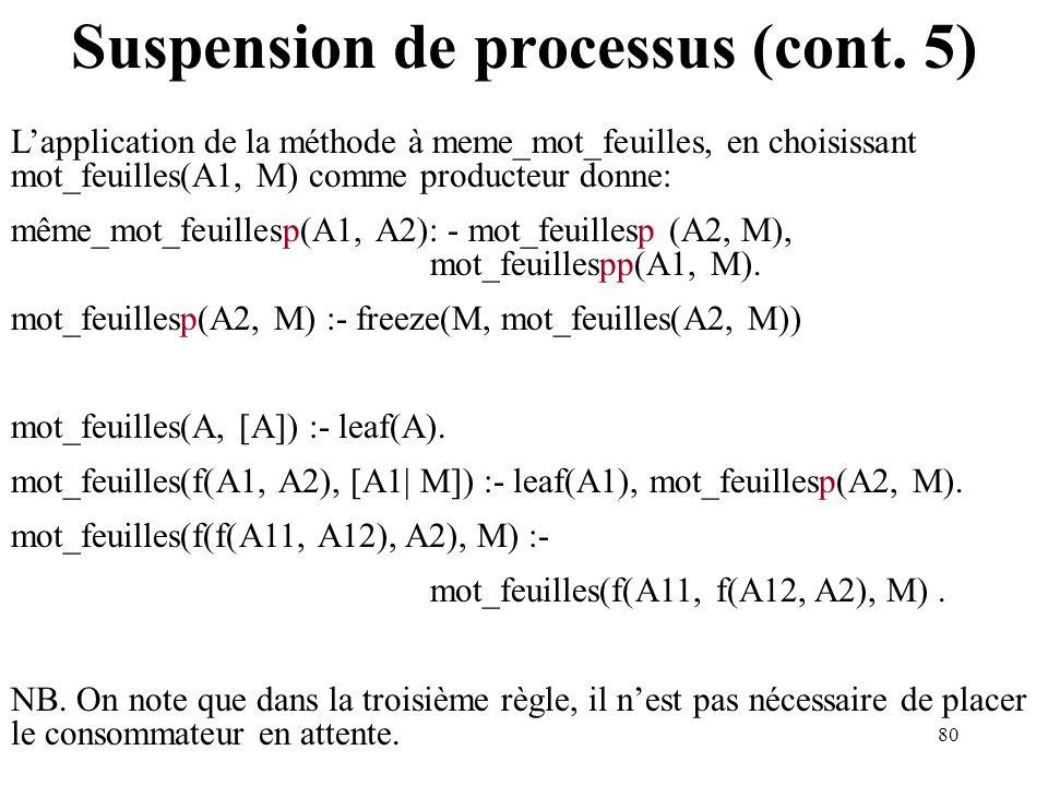 Suspension de processus (cont. 5)