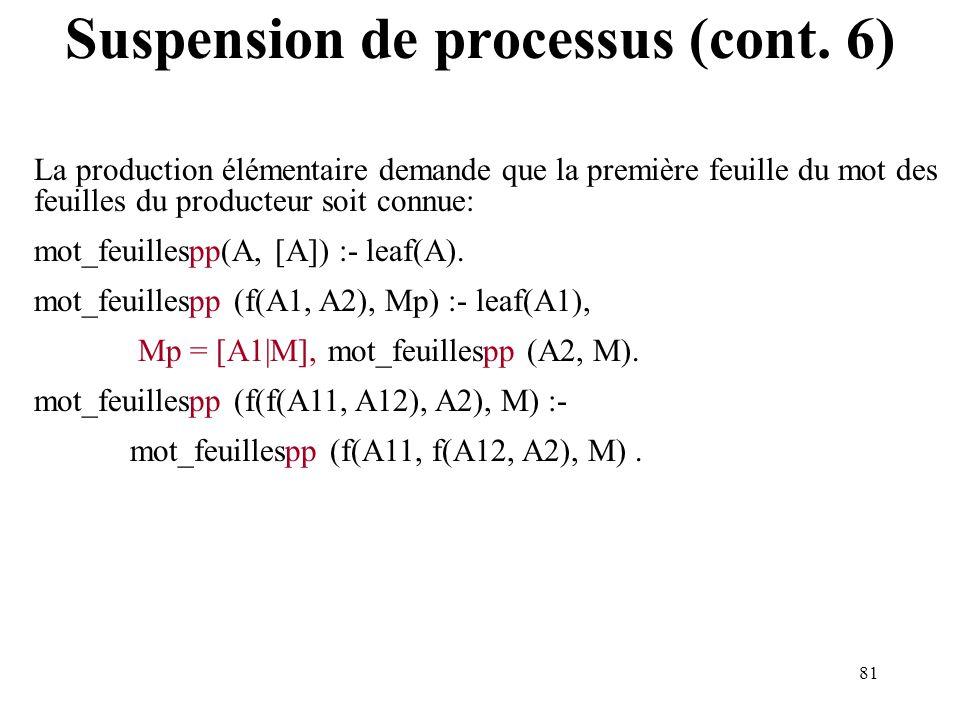 Suspension de processus (cont. 6)