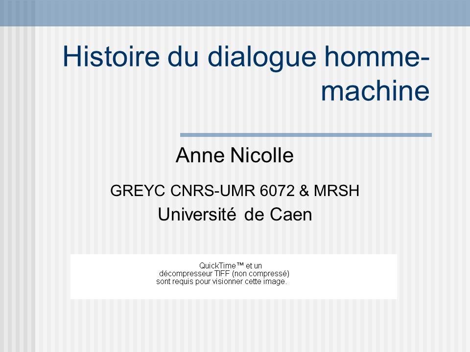 Histoire du dialogue homme-machine