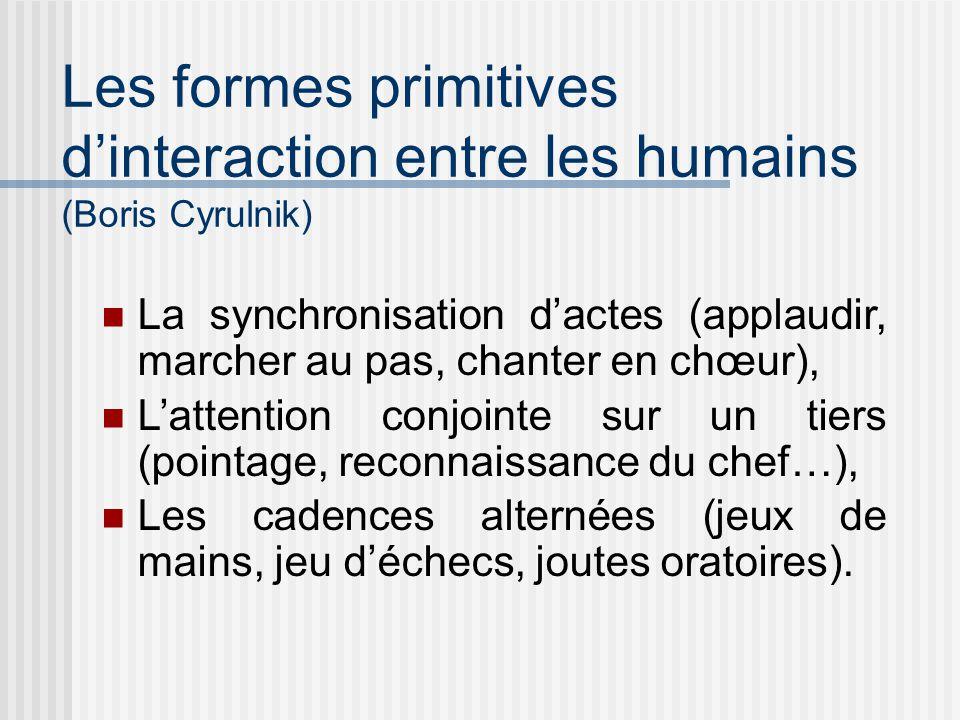 Les formes primitives d'interaction entre les humains (Boris Cyrulnik)