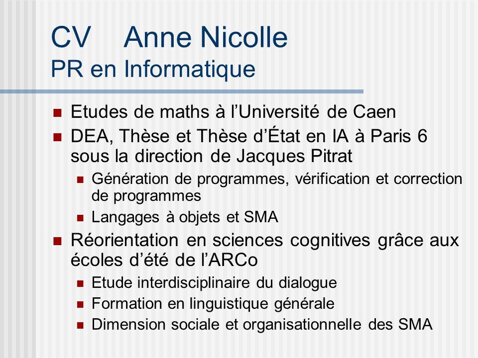 CV Anne Nicolle PR en Informatique