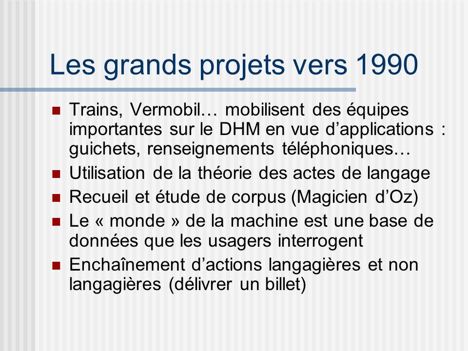 Les grands projets vers 1990