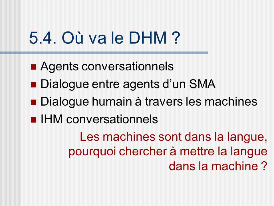 5.4. Où va le DHM Agents conversationnels