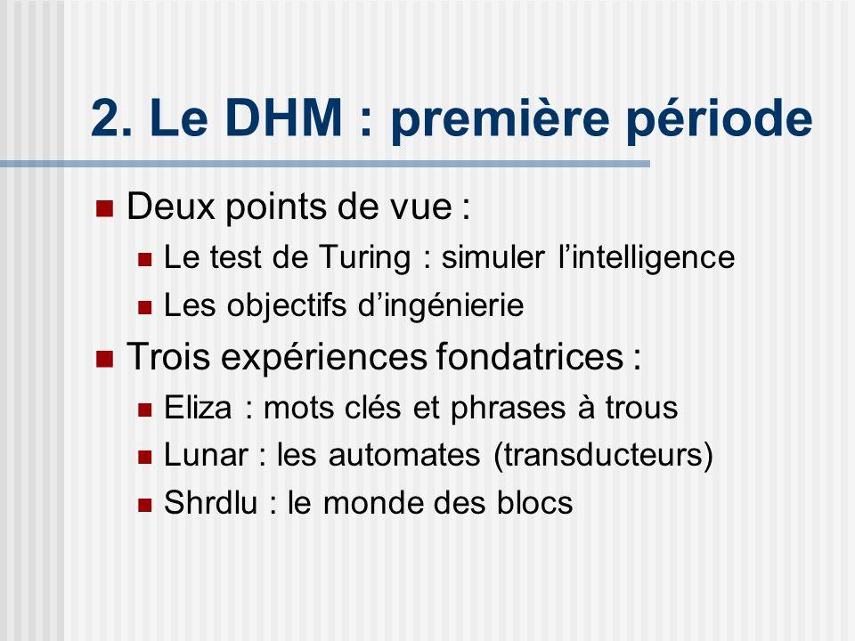 2. Le DHM : première période