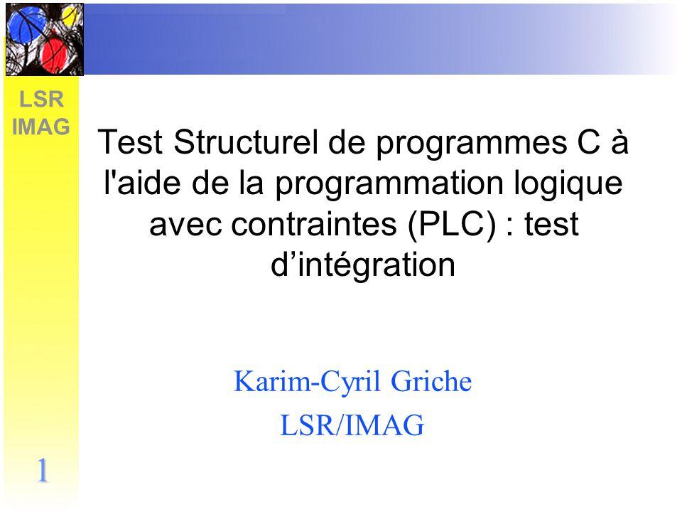 Karim-Cyril Griche LSR/IMAG