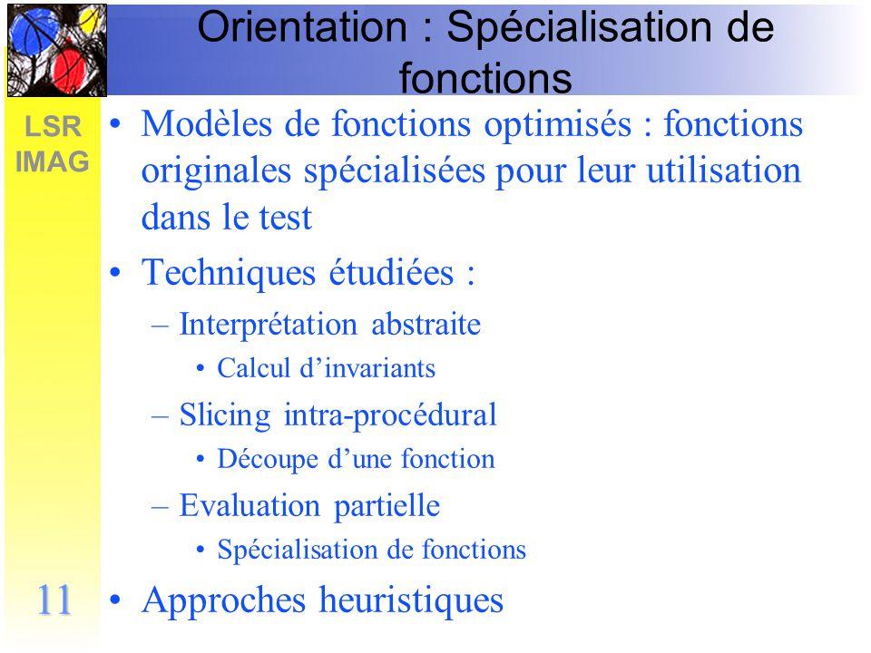 Orientation : Spécialisation de fonctions