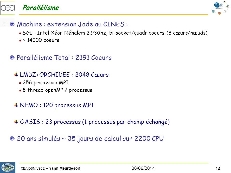 Machine : extension Jade au CINES :
