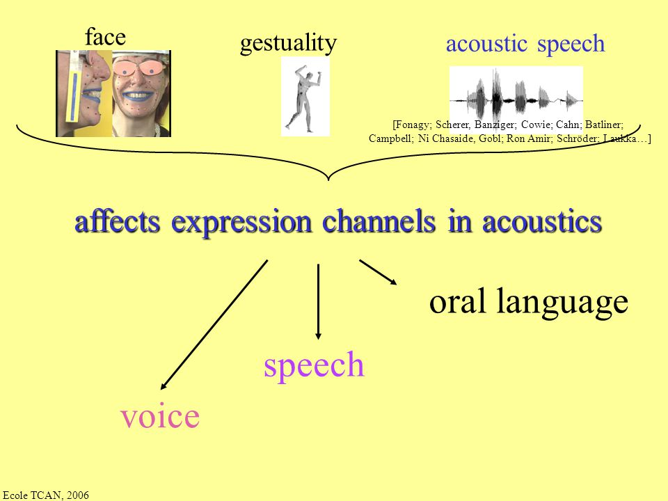 oral language speech voice affects expression channels in acoustics