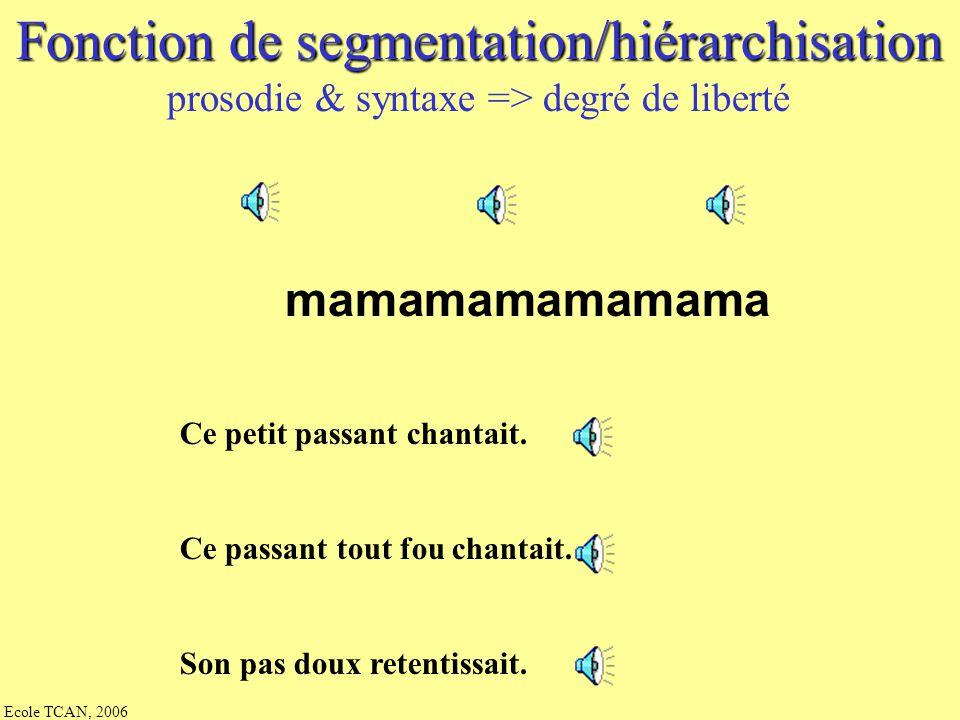 Fonction de segmentation/hiérarchisation