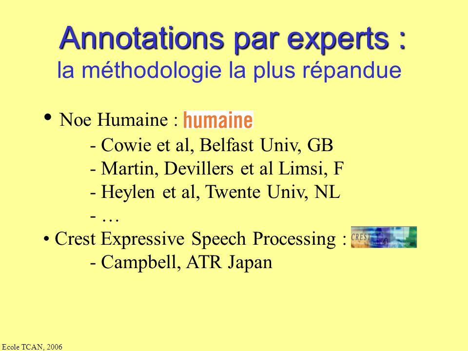 Annotations par experts :