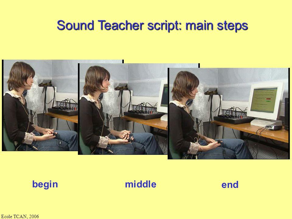 Sound Teacher script: main steps