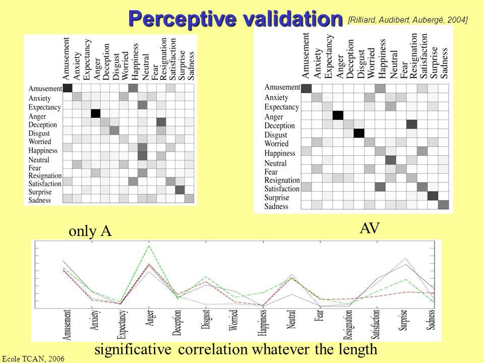 Perceptive validation