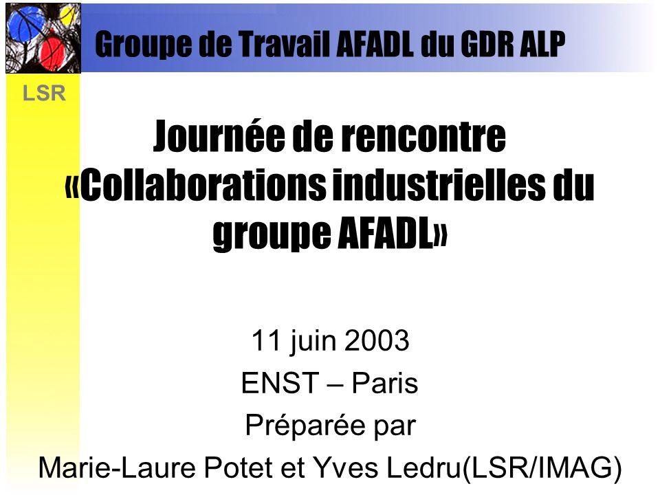 Marie-Laure Potet et Yves Ledru(LSR/IMAG)