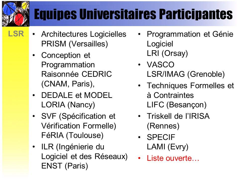 Equipes Universitaires Participantes
