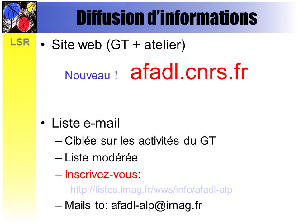Diffusion d'informations