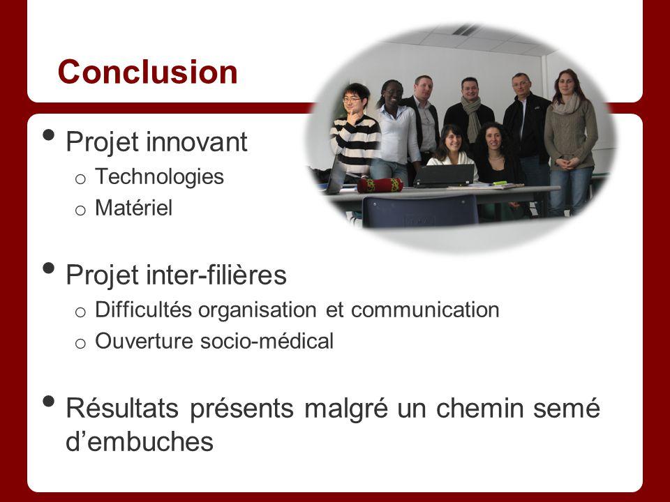 Conclusion Projet innovant Projet inter-filières