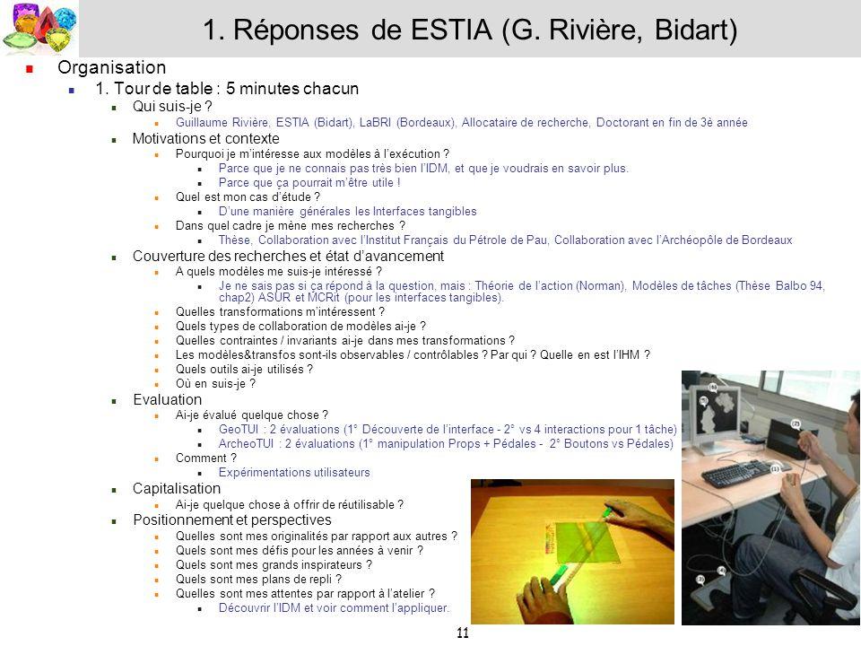 1. Réponses de ESTIA (G. Rivière, Bidart)