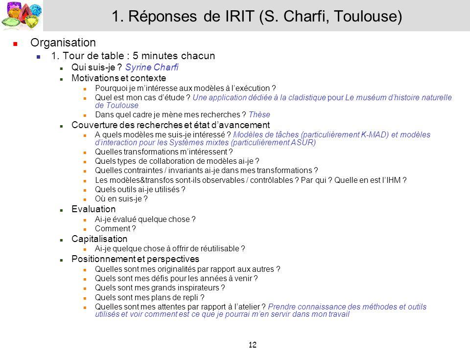 1. Réponses de IRIT (S. Charfi, Toulouse)
