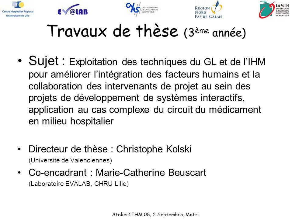 Travaux de thèse (3ème année)
