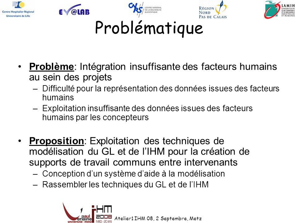 Problématique Problème: Intégration insuffisante des facteurs humains au sein des projets.