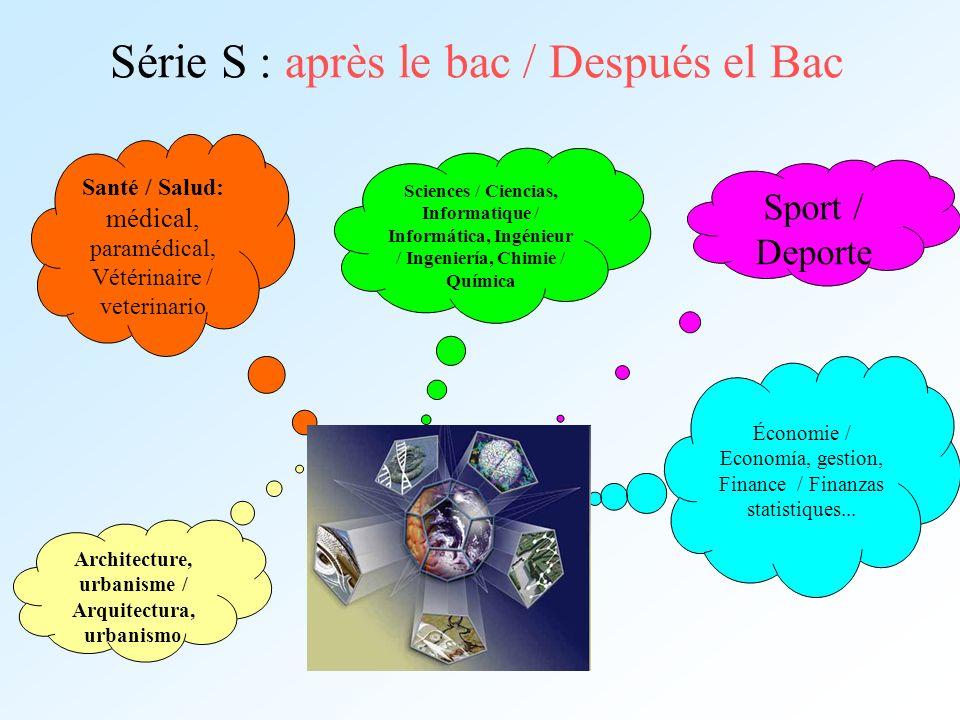 Série S : après le bac / Después el Bac
