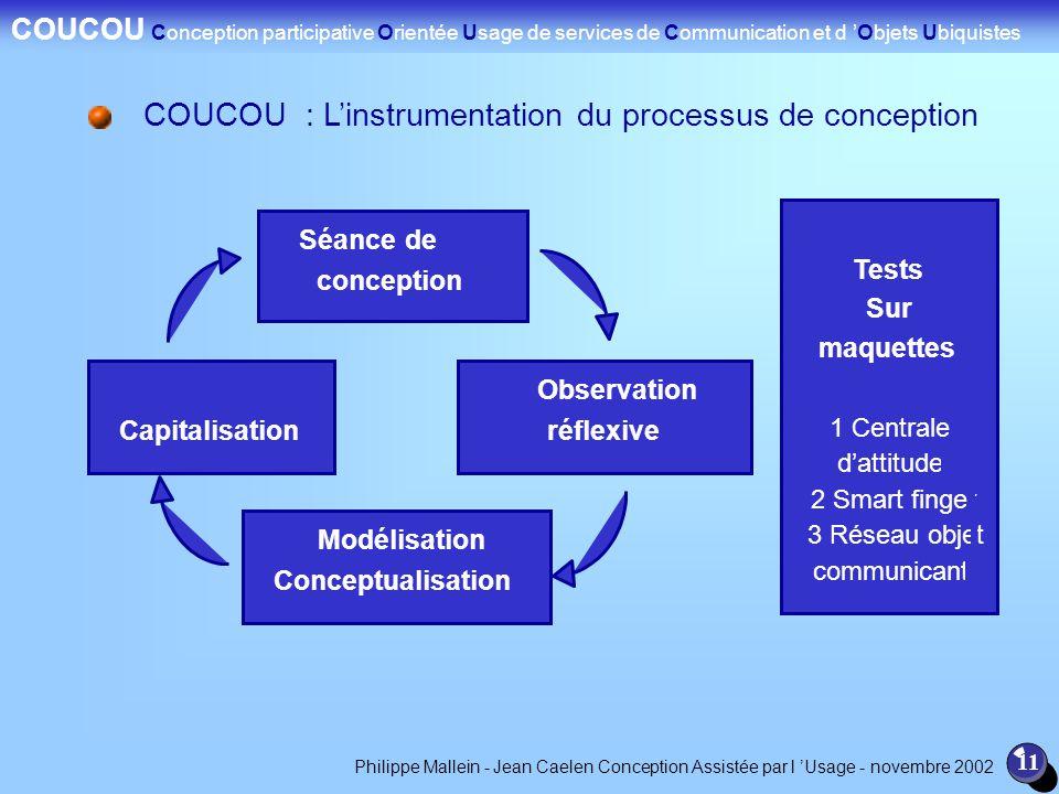 COUCOU : L'instrumentation du processus de conception