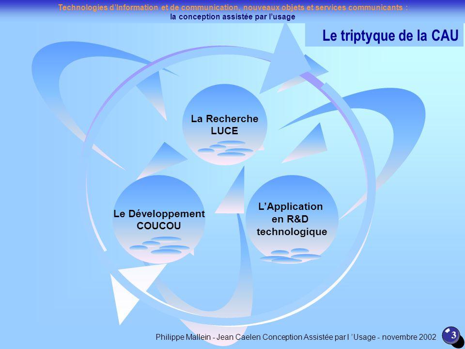 Le triptyque de la CAU La Recherche LUCE L'Application
