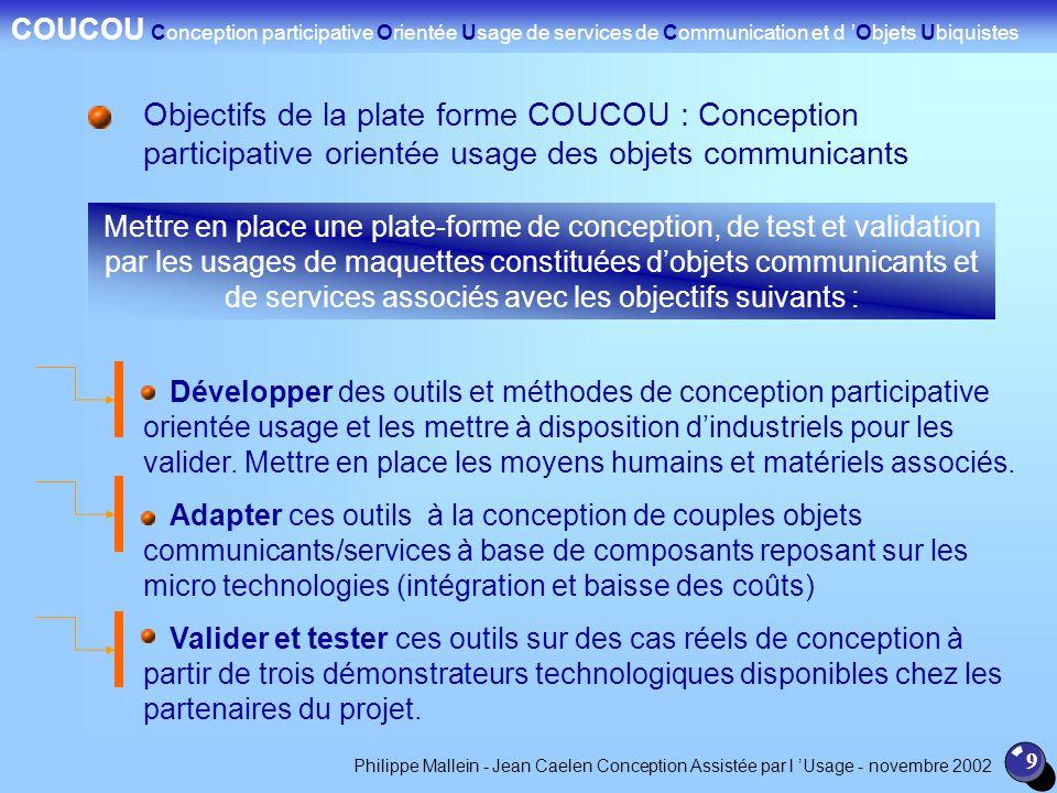 COUCOU Conception participative Orientée Usage de services de Communication et d 'Objets Ubiquistes