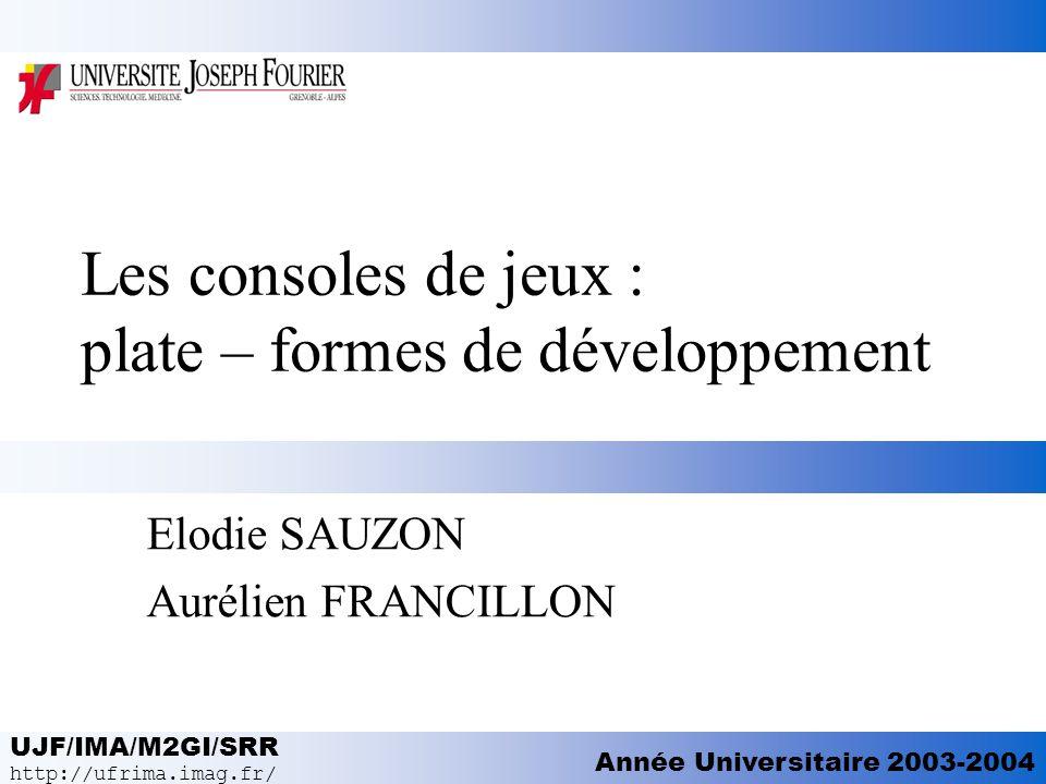 Les consoles de jeux : plate – formes de développement