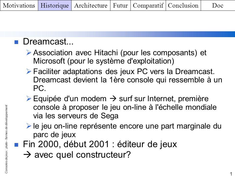 Fin 2000, début 2001 : éditeur de jeux  avec quel constructeur