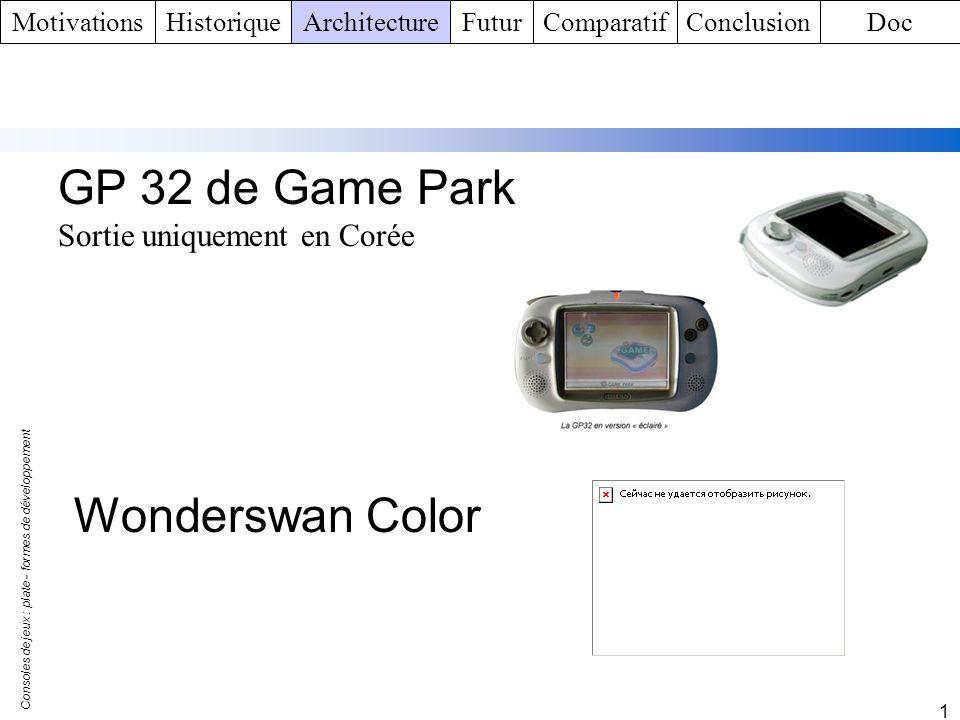 GP 32 de Game Park Wonderswan Color Sortie uniquement en Corée