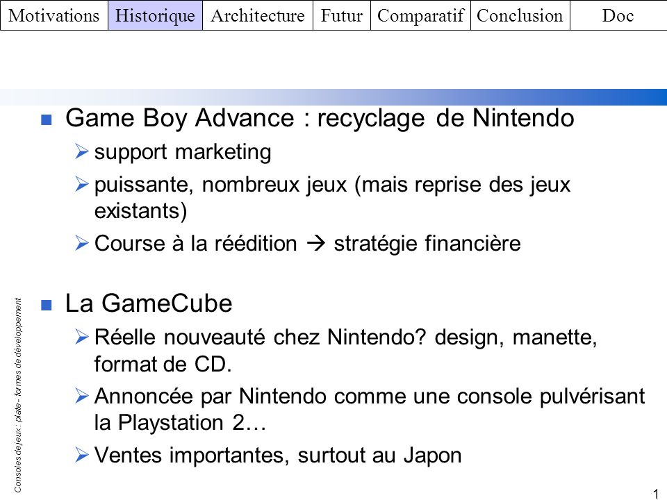 Game Boy Advance : recyclage de Nintendo